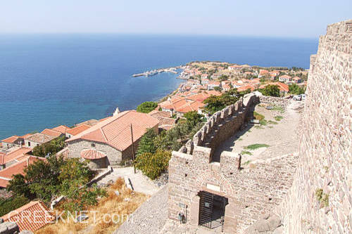 Stunning views from Molivos' Byzantine Castle